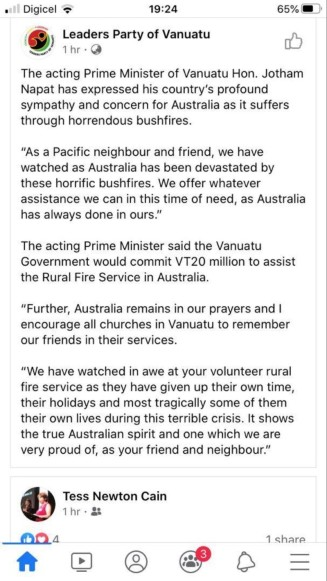 Vanuatu PM